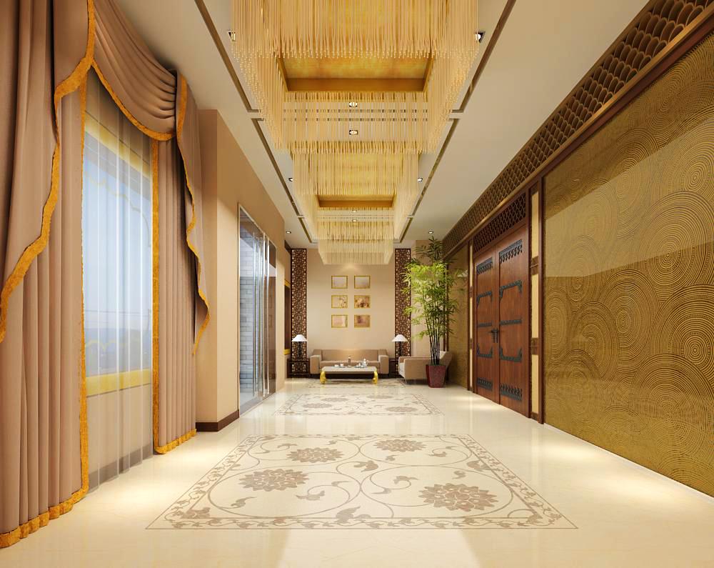 corridor space 034 3d model max 134537