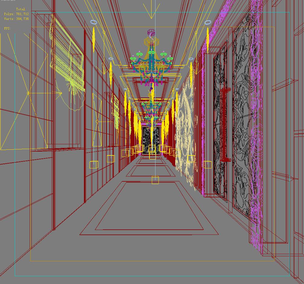 corridor space 038 3d model max 134556