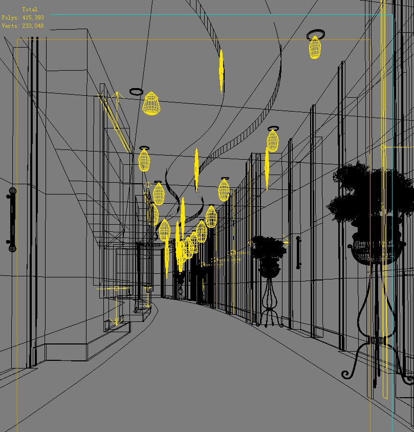 corridor space 039 3d model max 134558