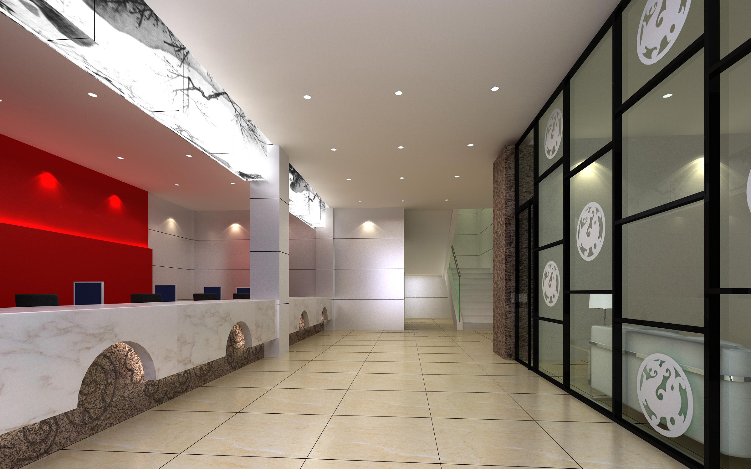corridor space 061 3d model max 136074