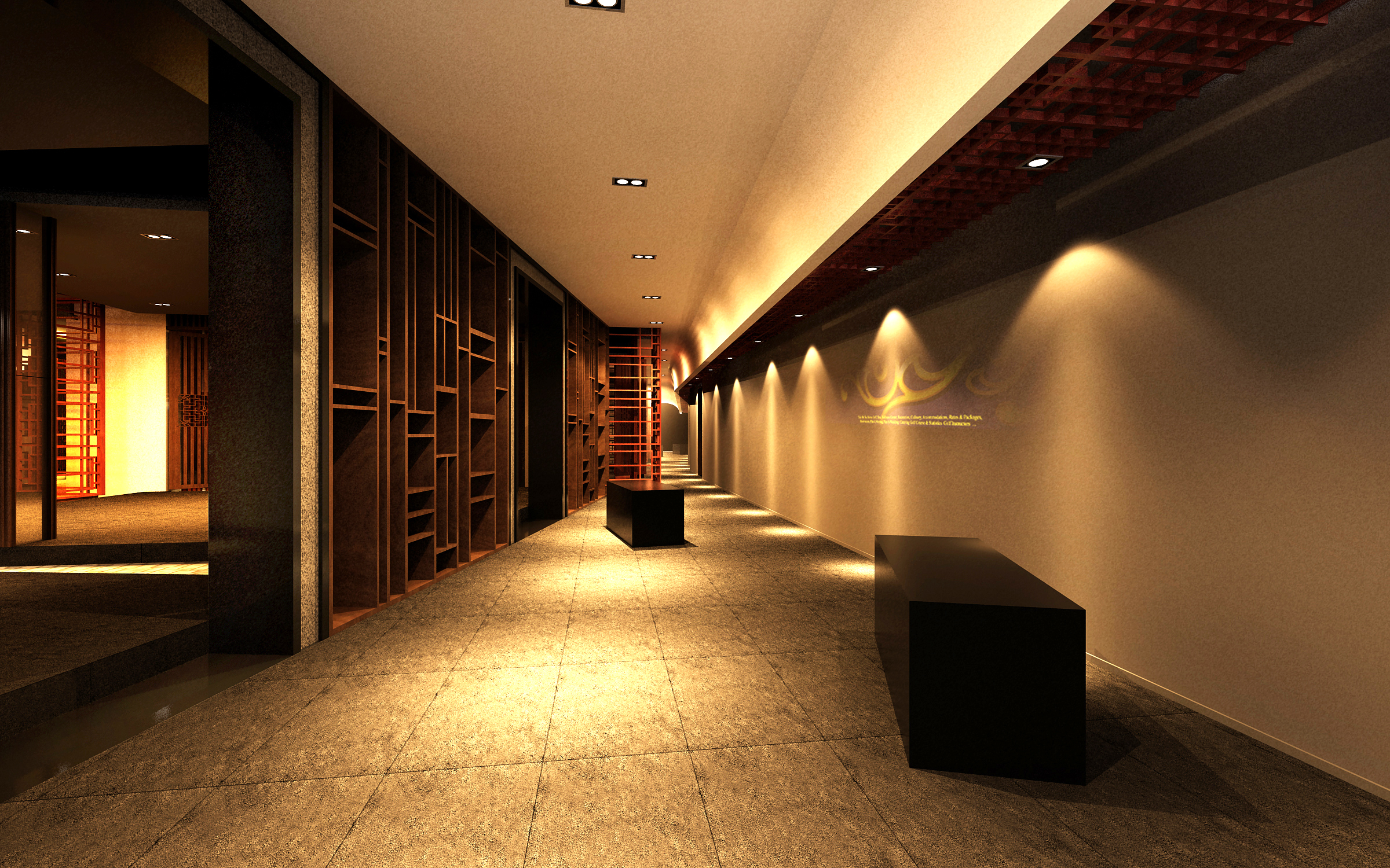 corridor space 062 3d model max 136076