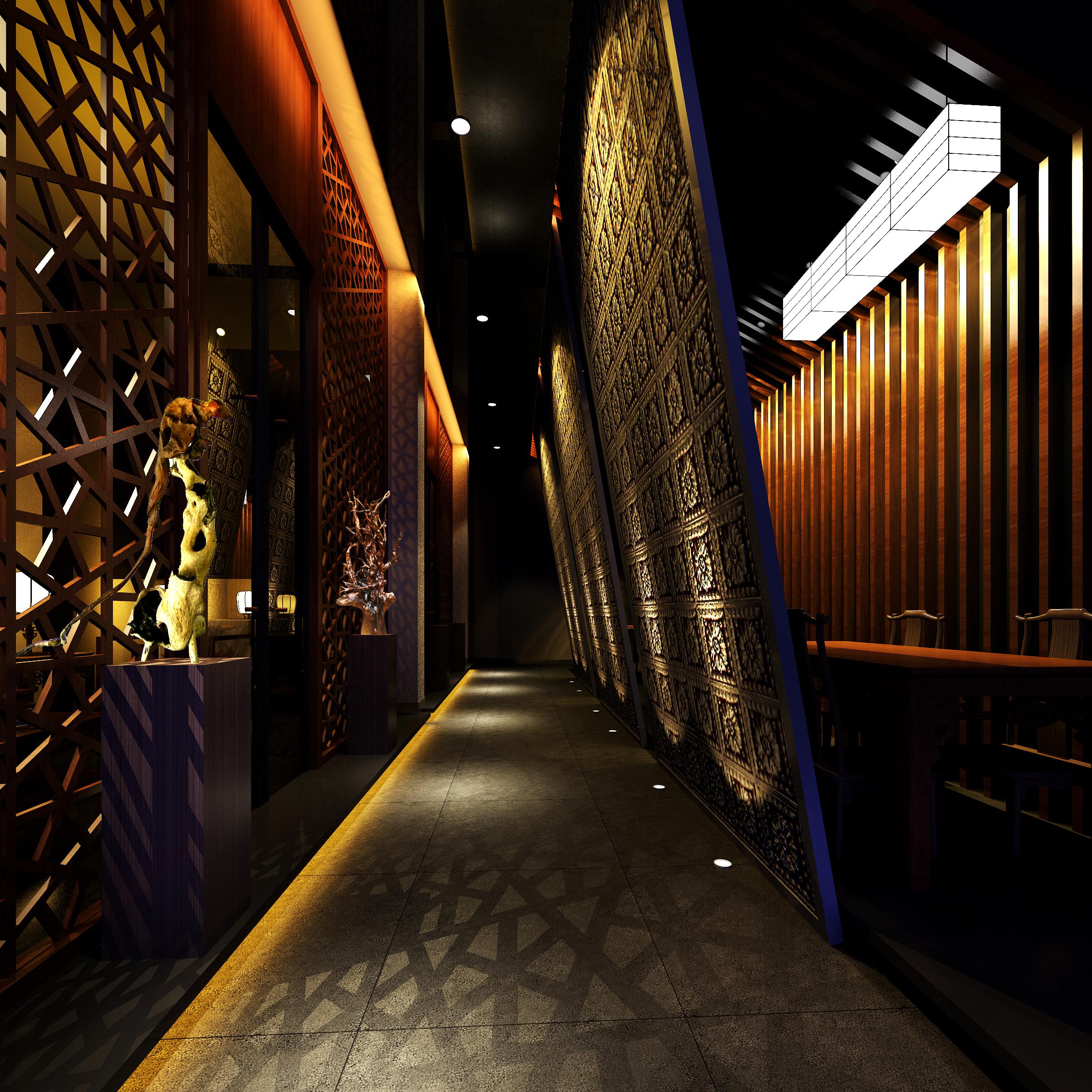 corridor space 063 3d model max 136080