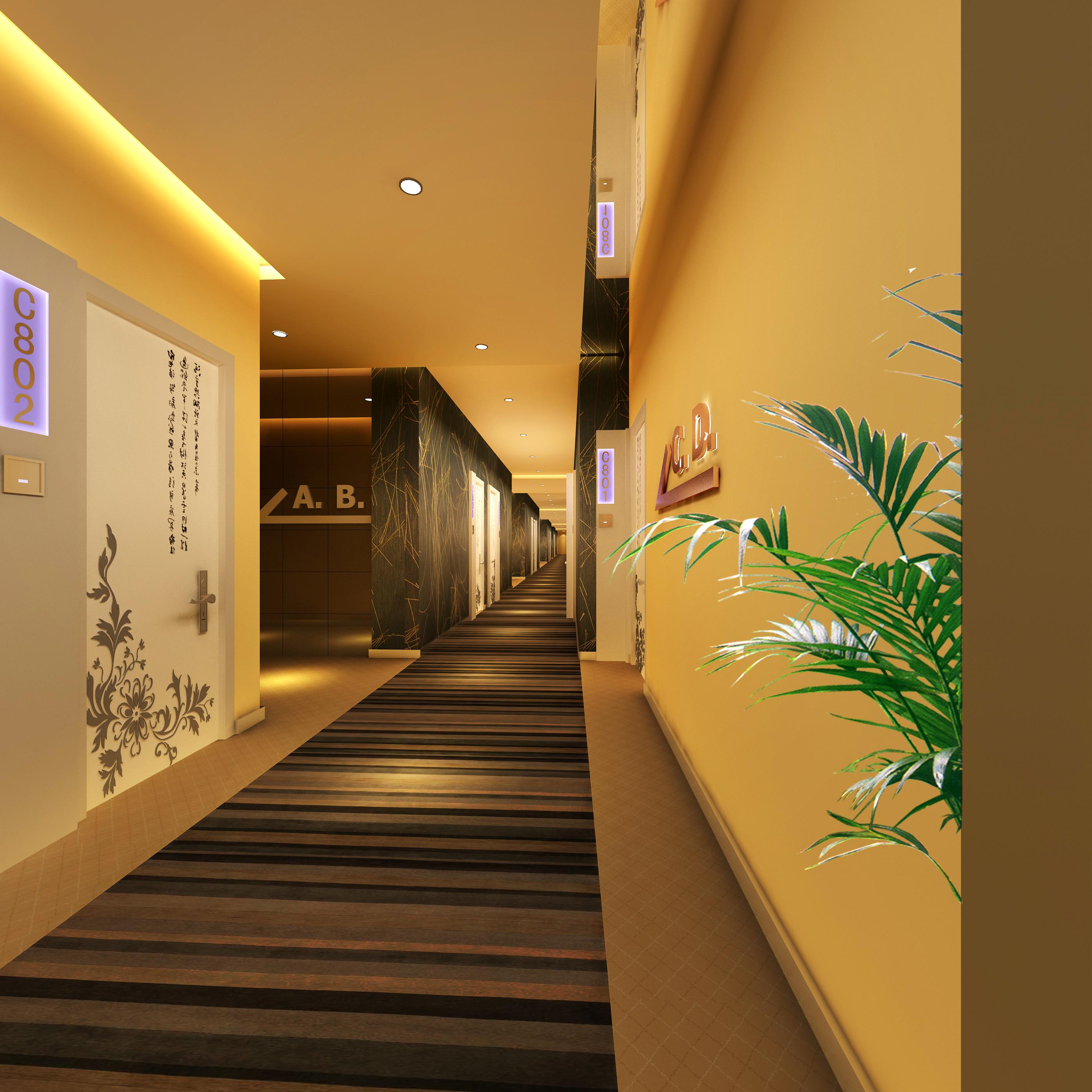 corridor space 064 3d model max 136078