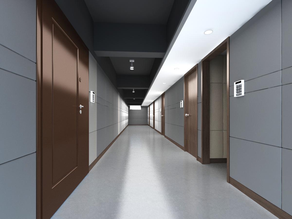 corridor space 065 3d model max 136082