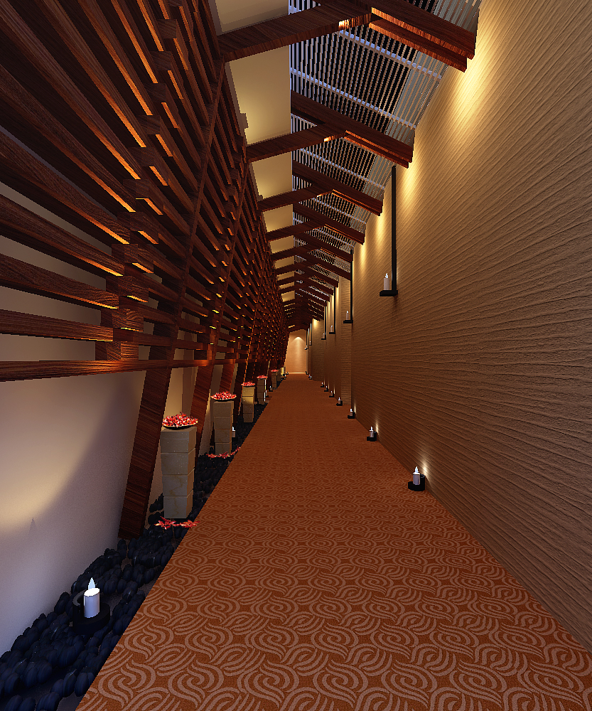 corridor space 067 3d model max 136086