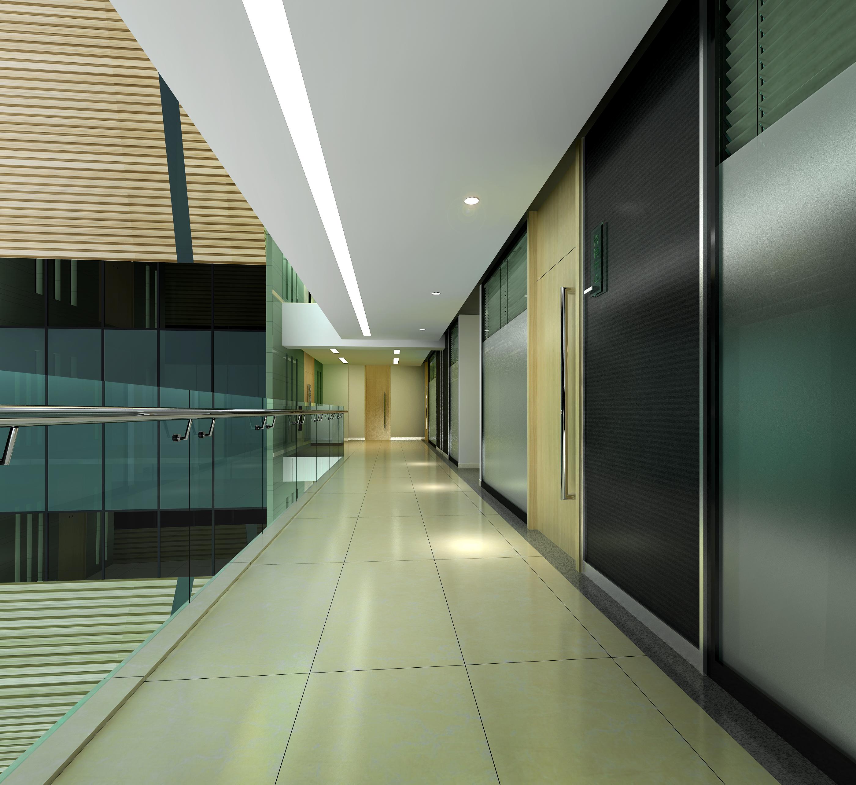 corridor space 068 3d model max 136088