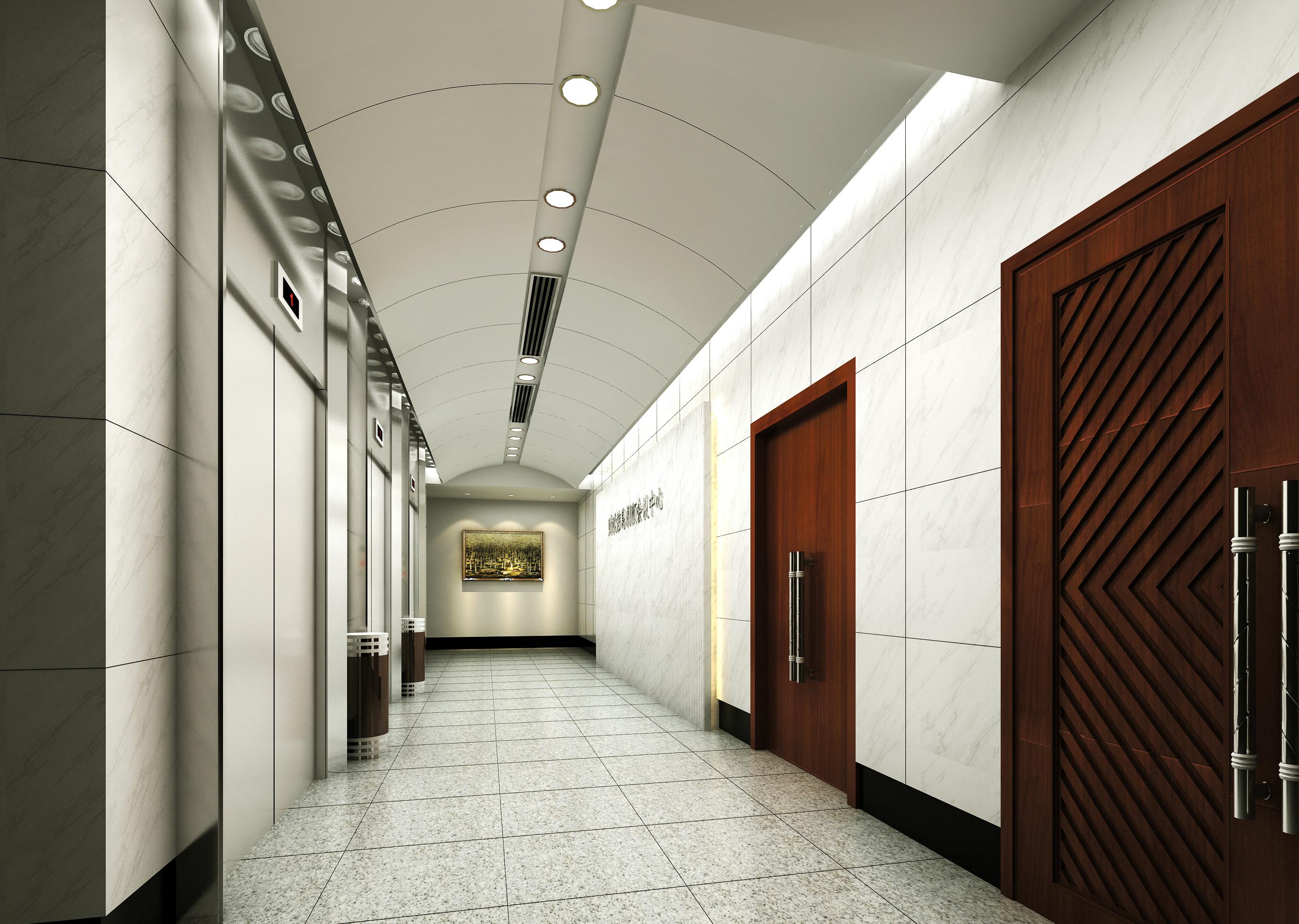 corridor space 069 3d model max 136090