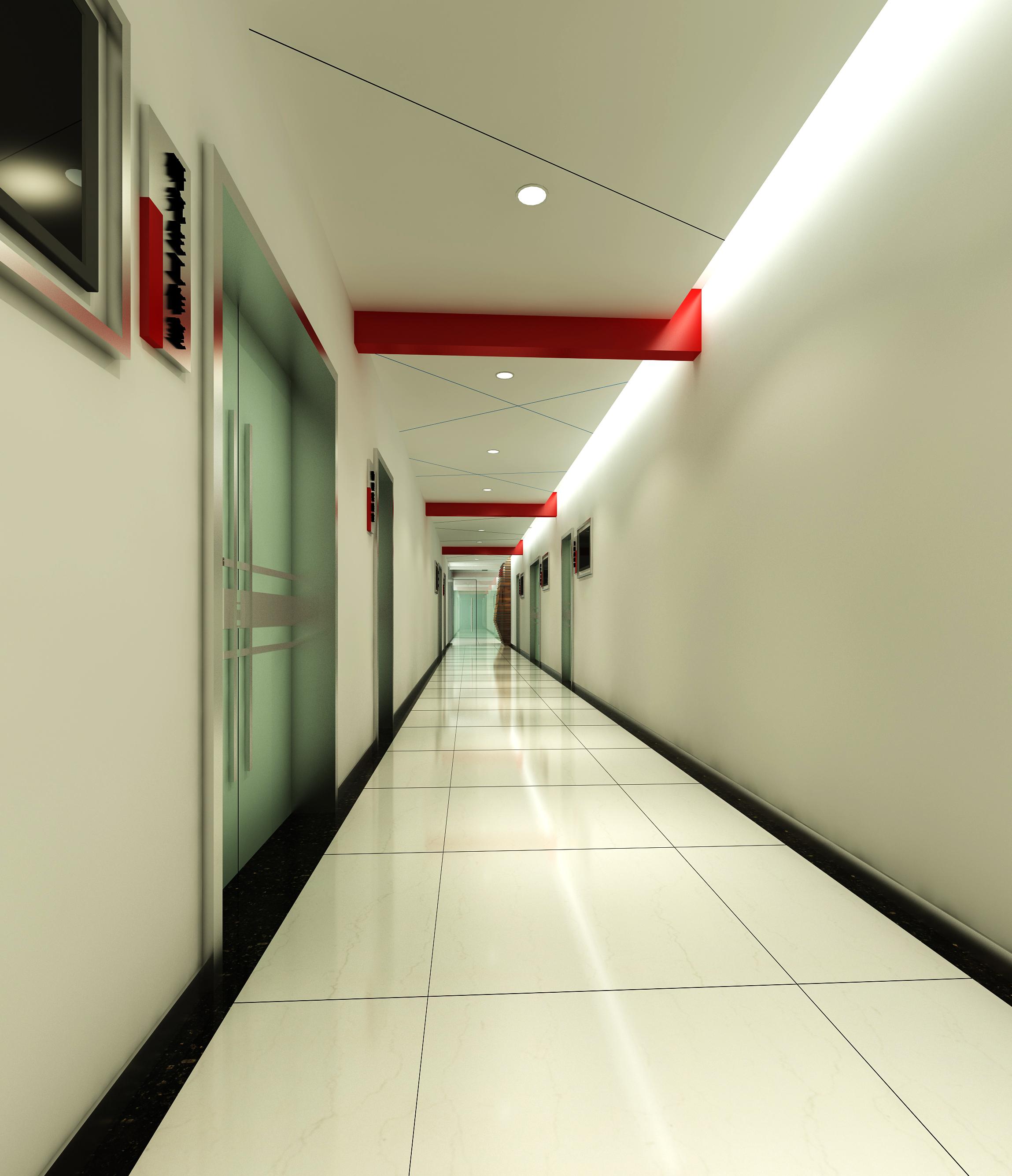 corridor space 070 3d model max 136092