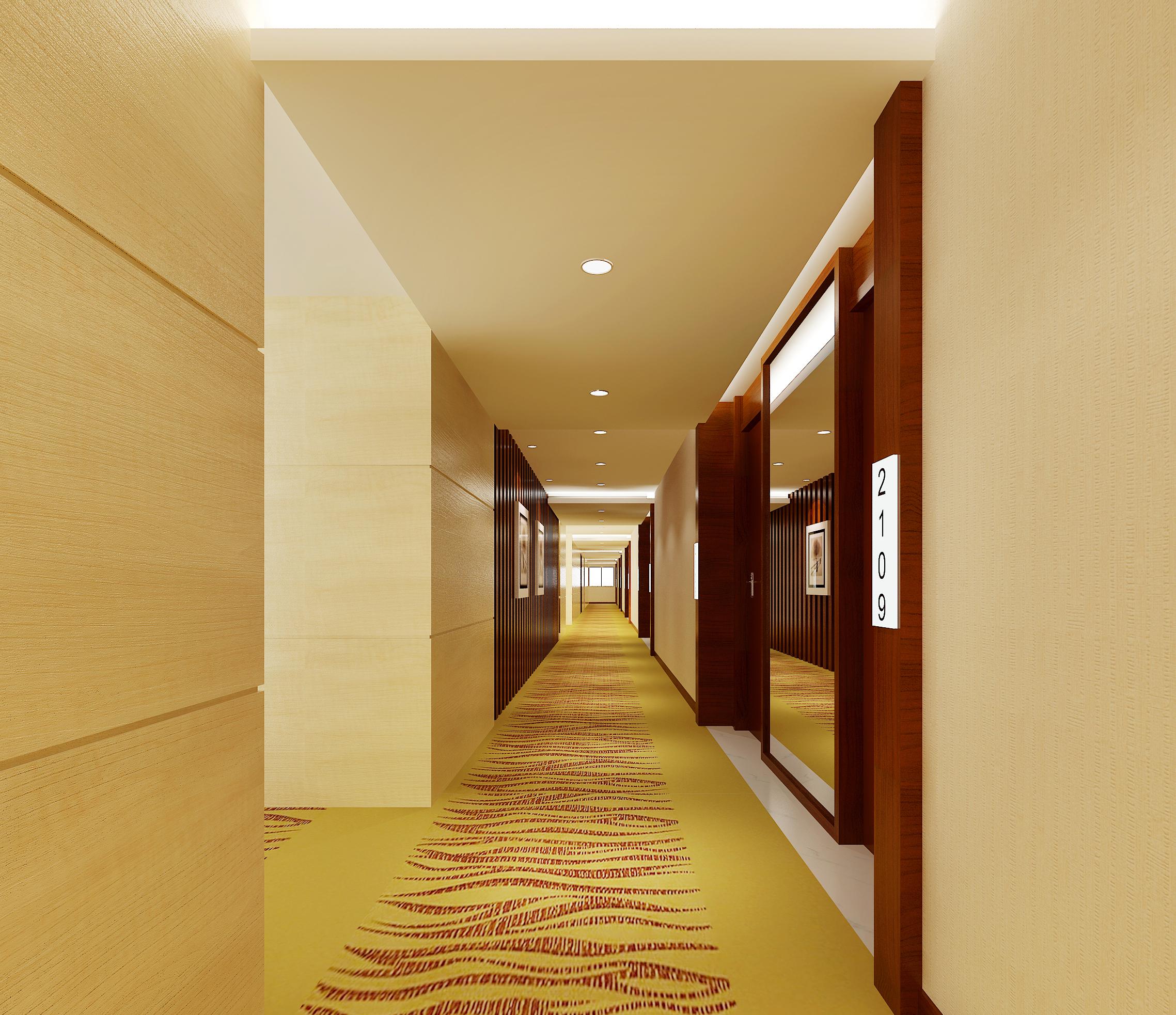 corridor space 071 3d model max 136094