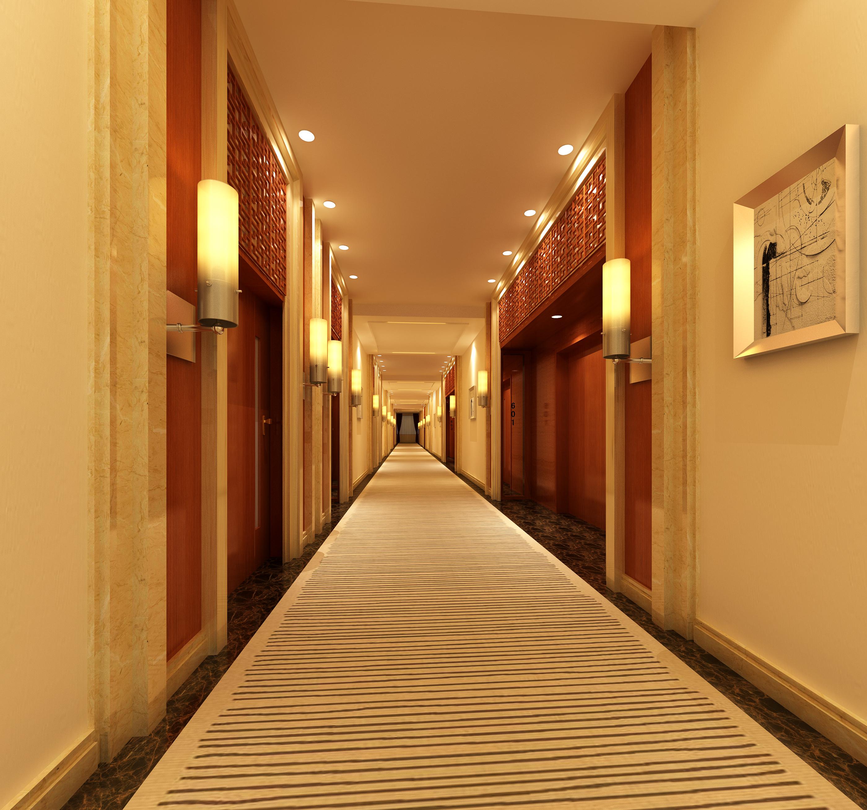 corridor space 073 3d model max 136098