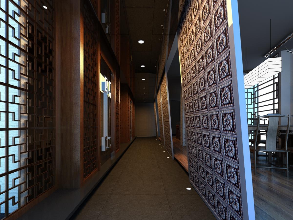 corridor space 074 3d model max 136100