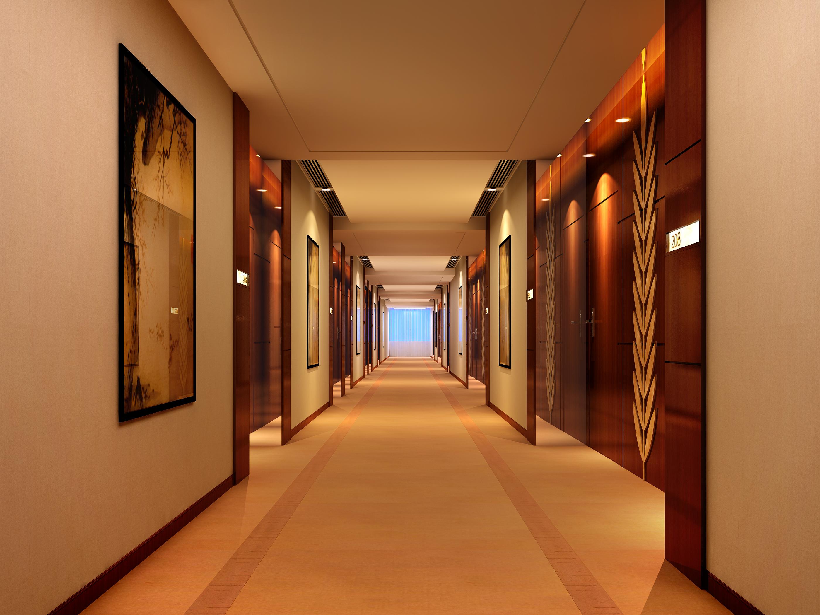 corridor space 076 3d model max 136104
