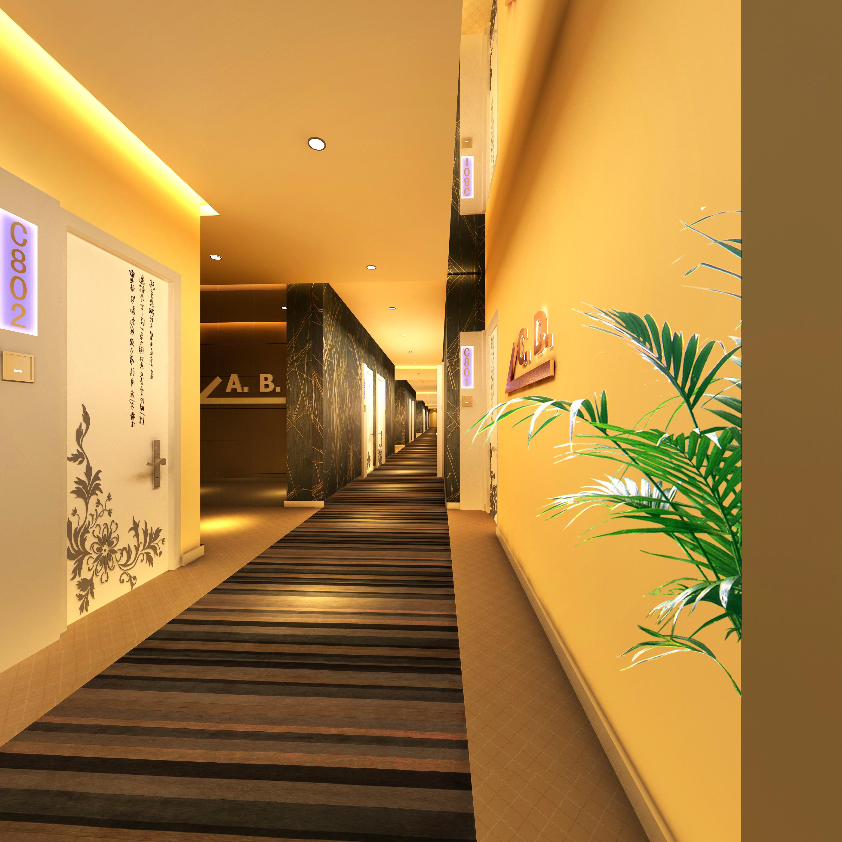 corridor space 077 3d model max 136106