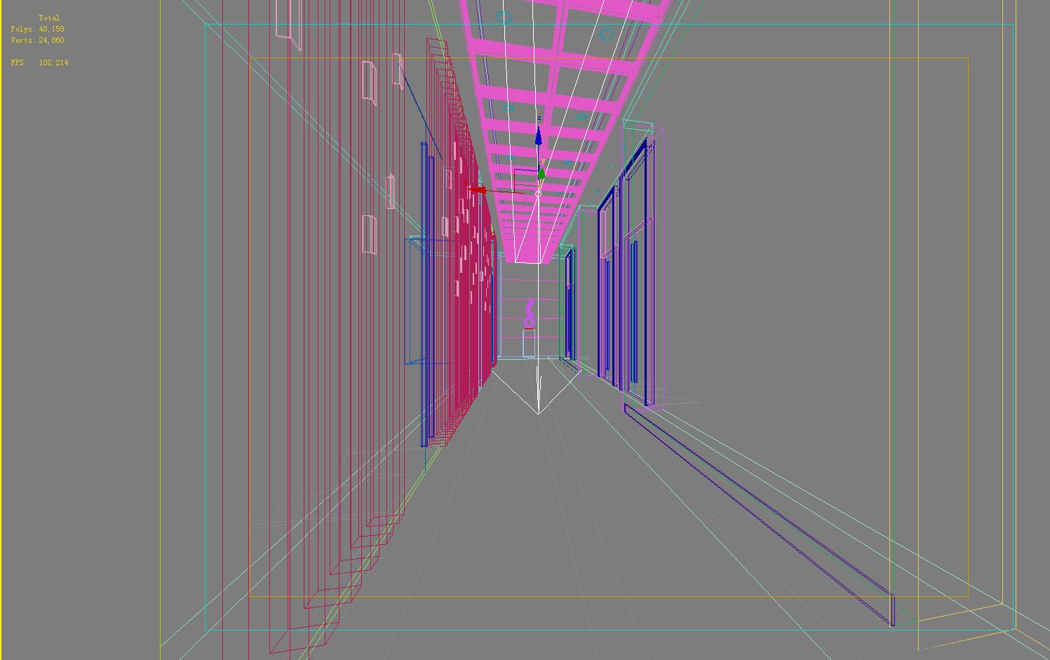 corridor space 081 3d model max 136115