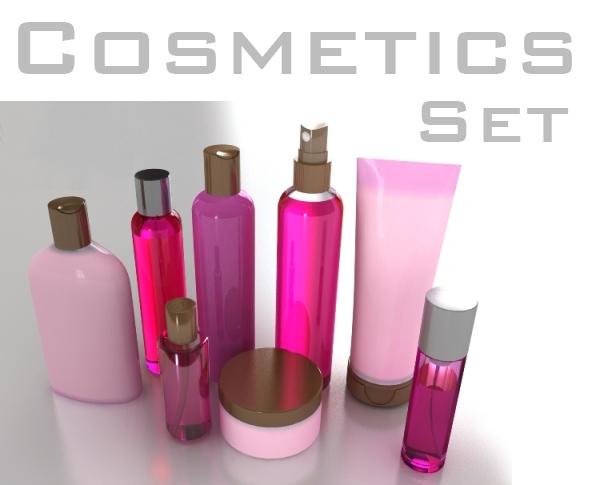 cosmetics bottles 3d model 3ds max fbx cob c4d x lwo 3dm hrc xsi texture obj 111853