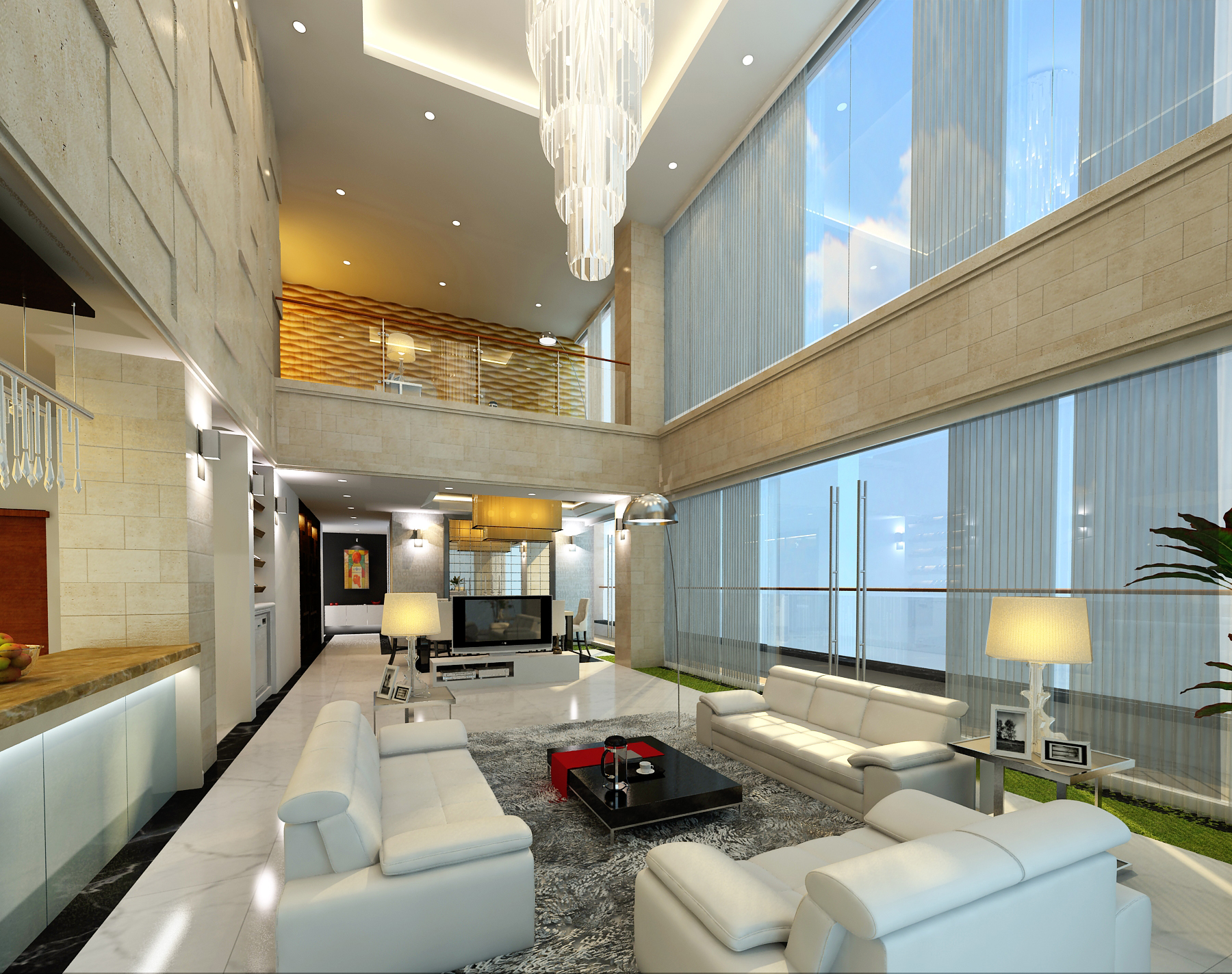 detail luxury penthouse 3d model max 159089