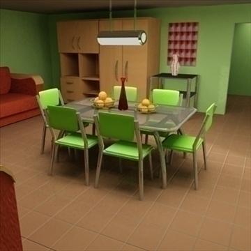 detailed 3d room 3d model max 100599