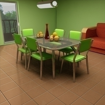 detailed 3d room 3d model max 100602