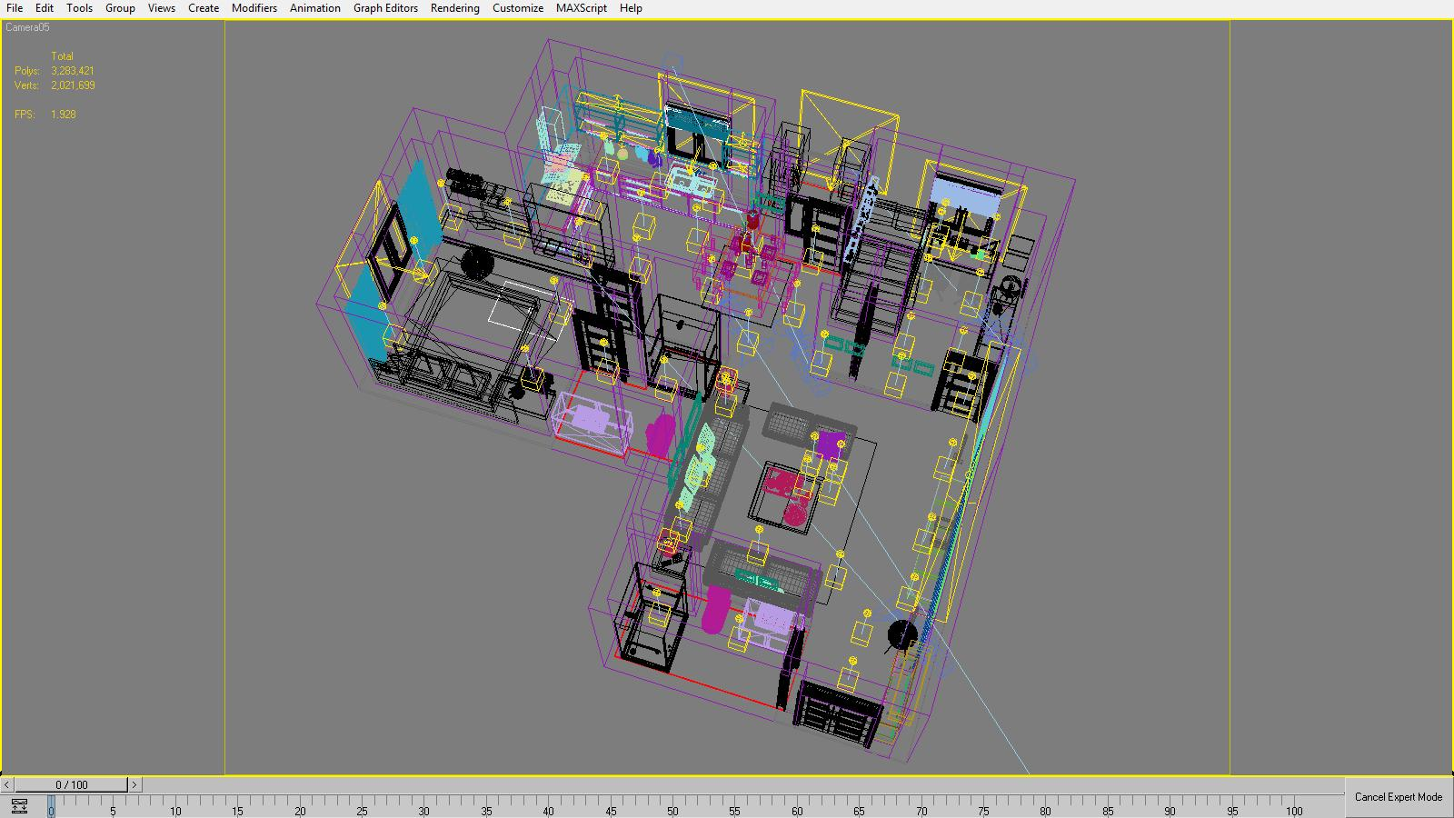 Detailed House Cutaway 3d Model Series Circuit Animated Max 158996