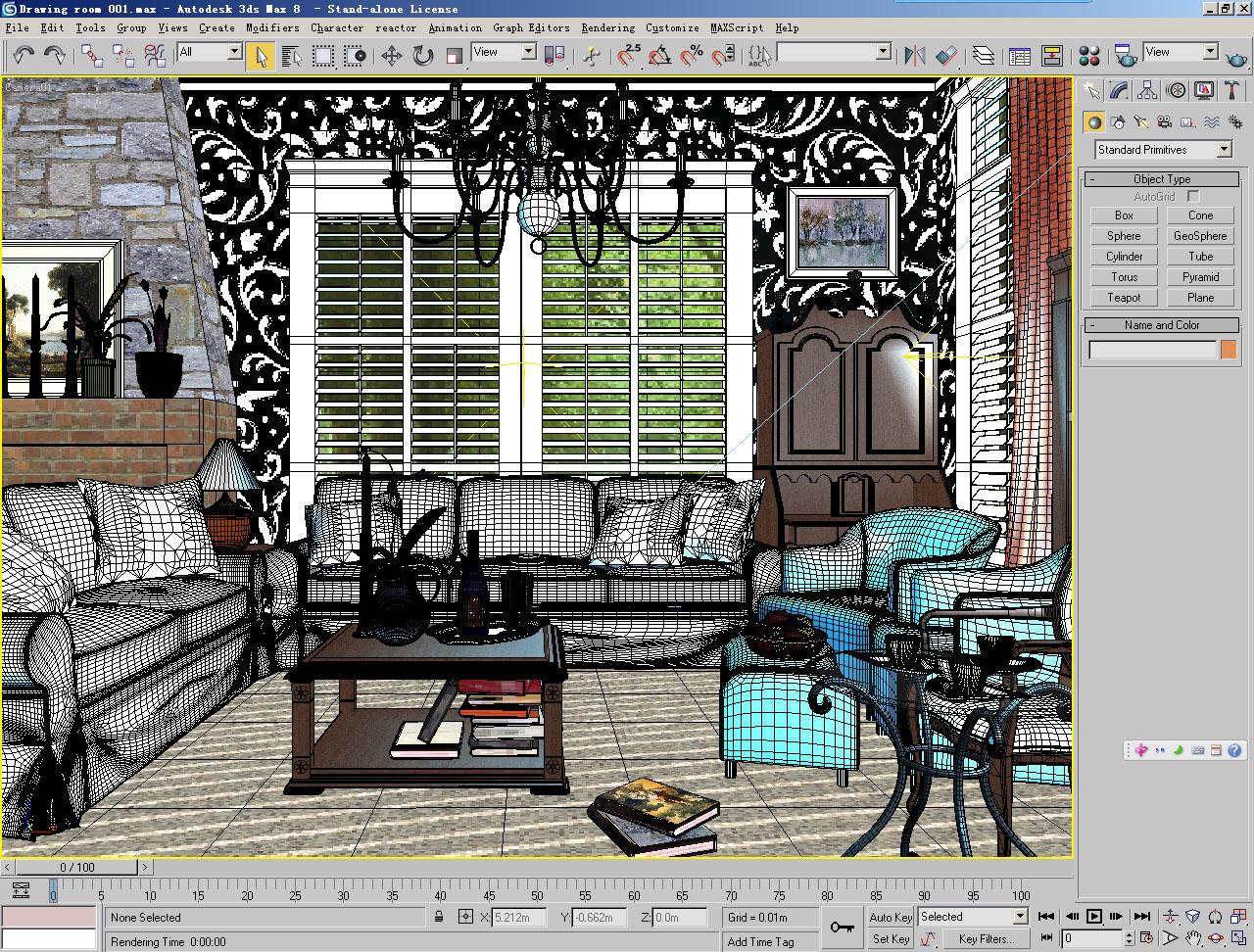 drawing room 001 3d model max 125320