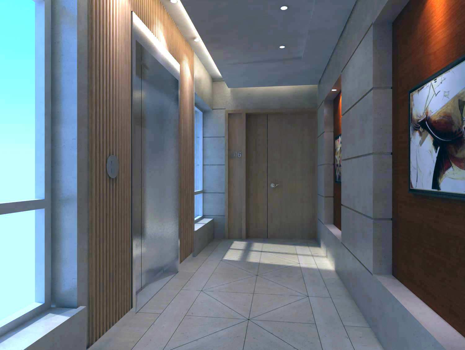 elevator space 002 3d model max 121840