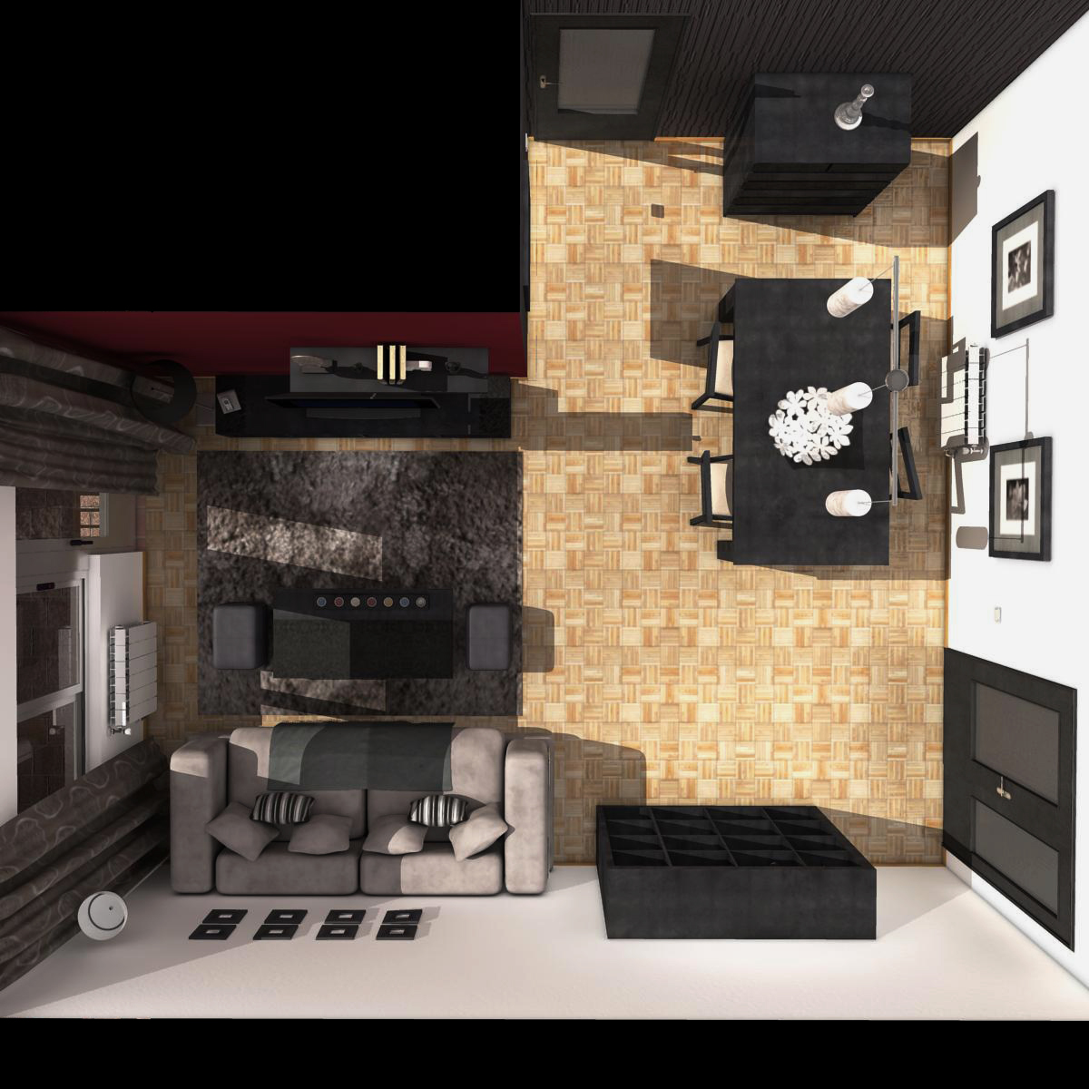 entire apartment 3d model fbx c4d ma mb obj 159637