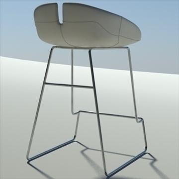 fjord bar stool low white 2 3d model 3ds max dwg fbx obj 88547