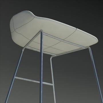 fjord bar stool low white 2 3d model 3ds max dwg fbx obj 88549