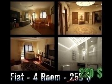 flat(4 room)bonus-corridorhall 3d model max 82448