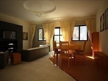 flat(4 room)bonus-corridorhall 3d model max 82449