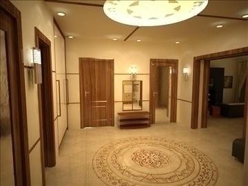 flat(4 room)bonus-corridorhall 3d model max 82450