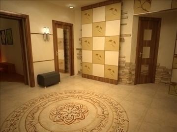 flat(4 room)bonus-corridorhall 3d model max 82451