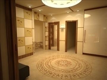 flat(4 room)bonus-corridorhall 3d model max 82452