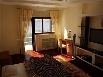 flat(4 room)bonus-corridorhall 3d model max 82453