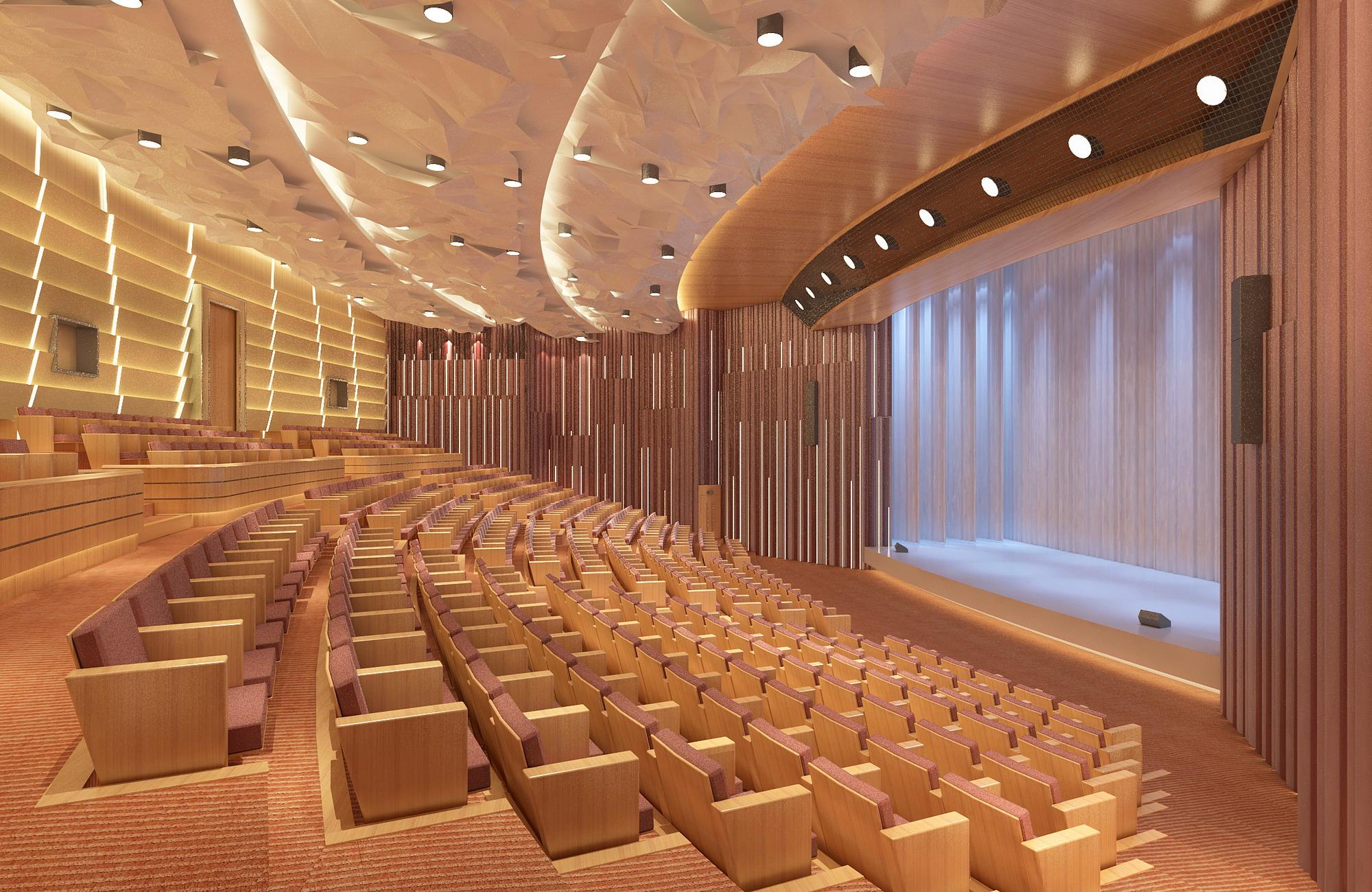 Grand theatre 002 3d model buy grand theatre 002 3d for Theatre model