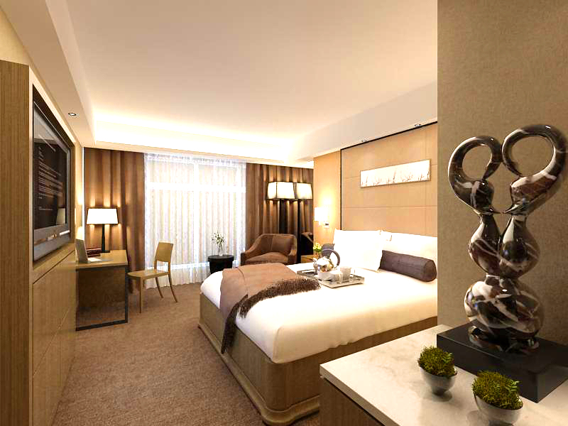 guest room 001 3d model 136392