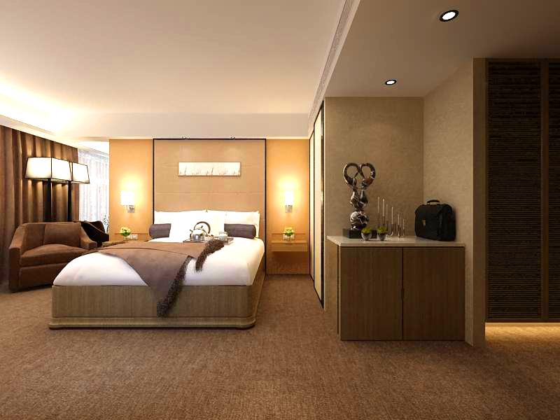 guest room 001 3d model 136393
