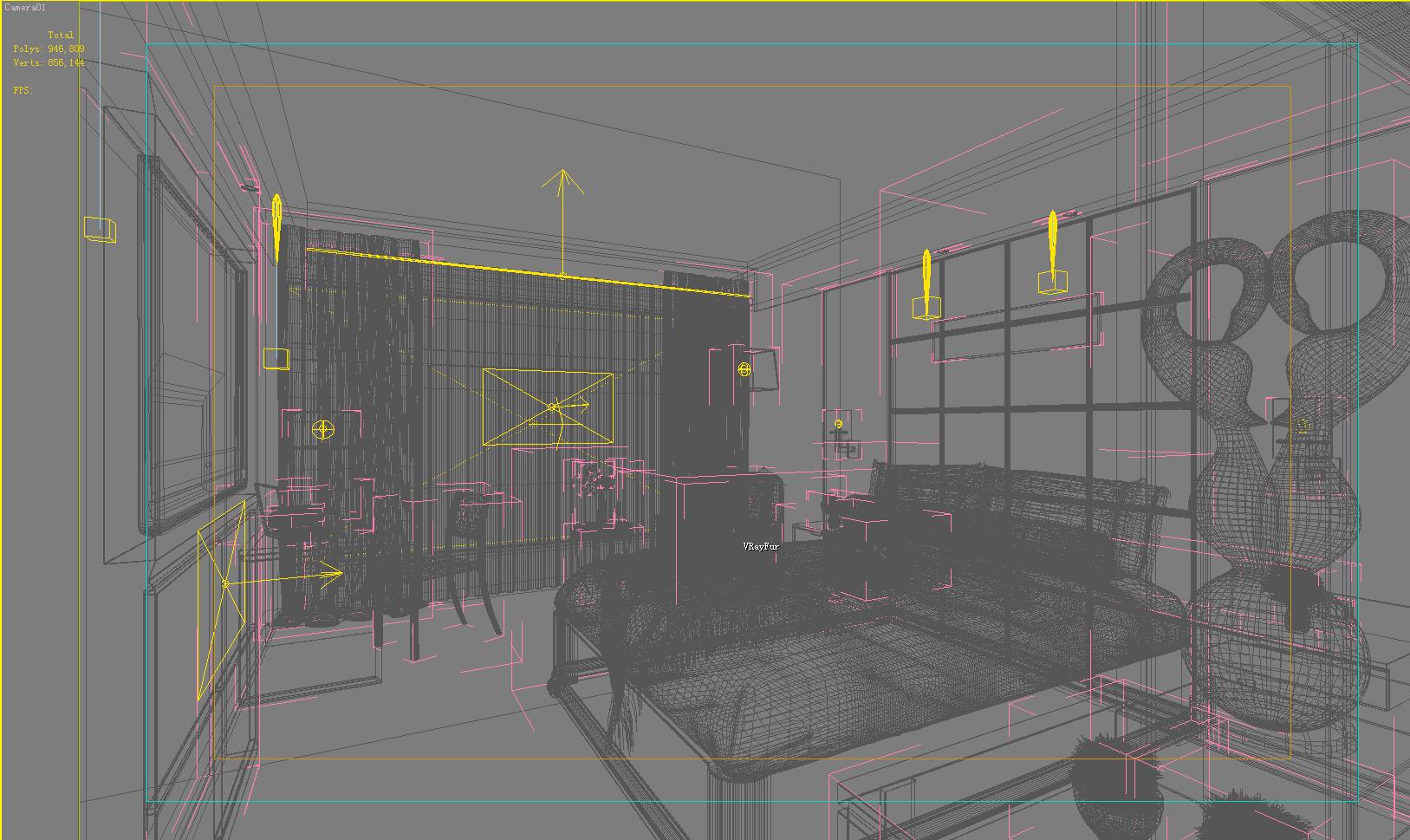guest room 001 3d model 136395