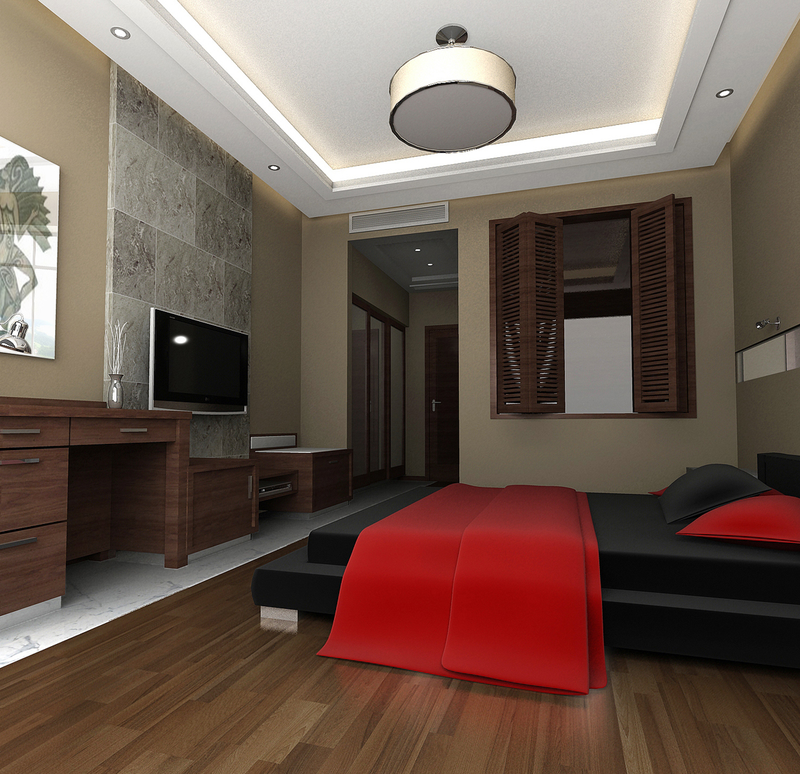 guest room 001 two 3d model max 139779