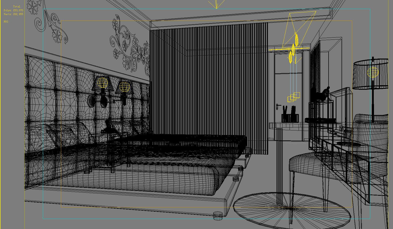 guest room 008 3d model max 136409