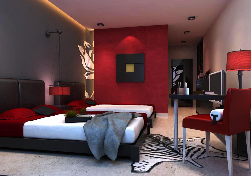 guest room 010 3d model max 136412