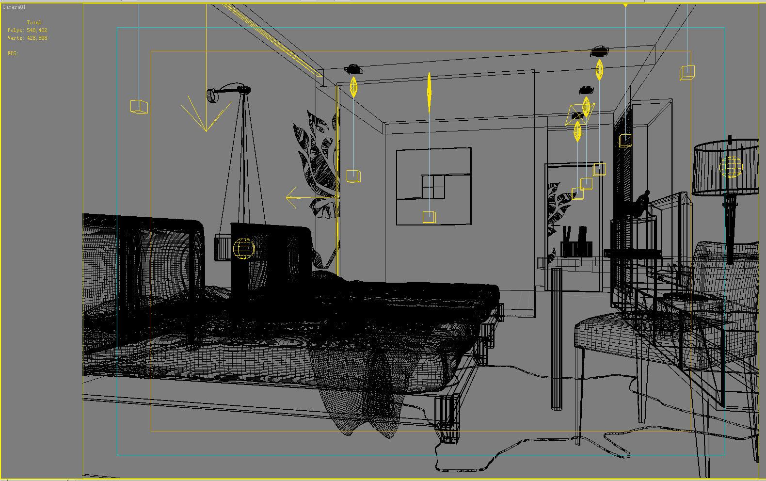 guest room 010 3d model max 136413
