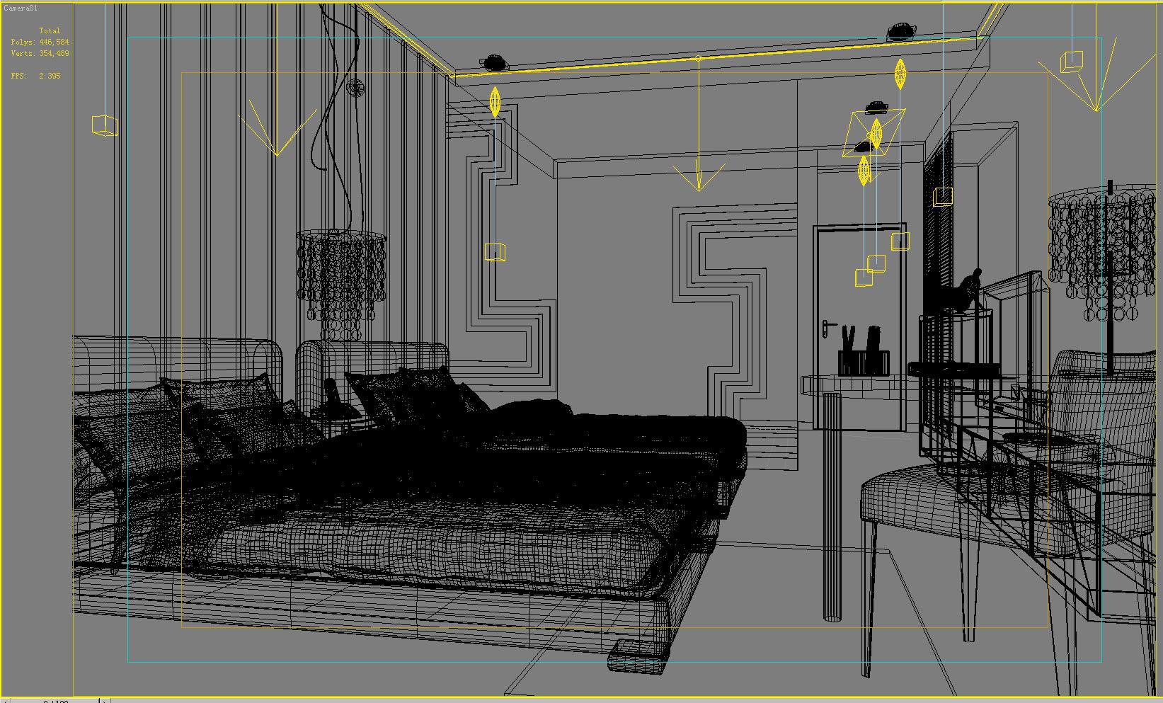 guest room 011 3d model max 136431
