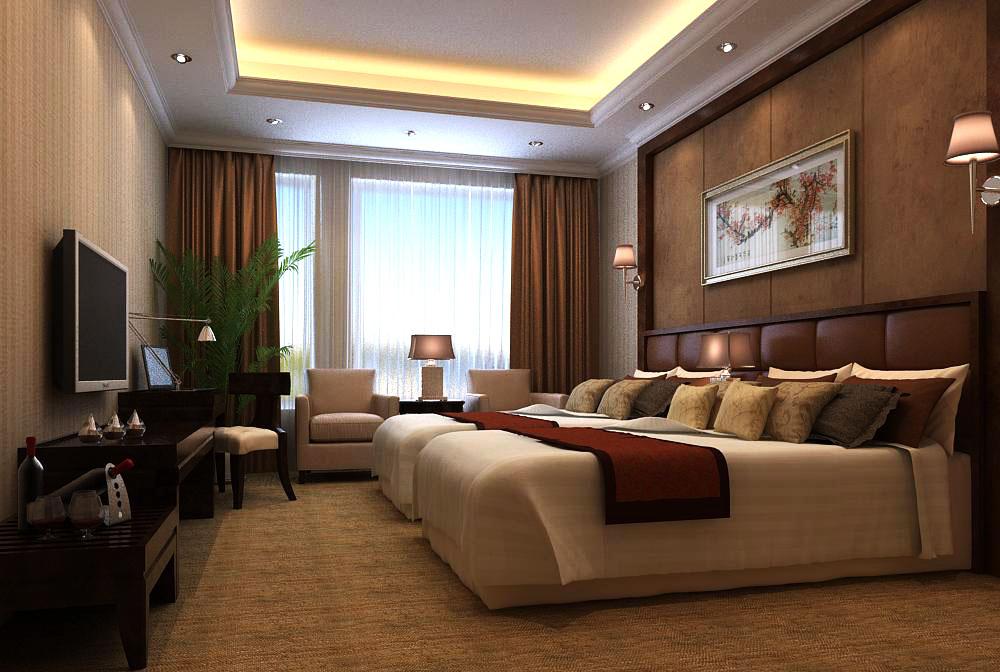 guest room 015 3d model max 136420