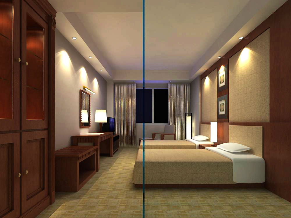 guest room 023 two 3d model max 140884