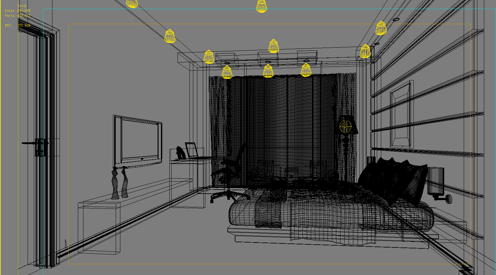 guest room 045 3d model max 136481