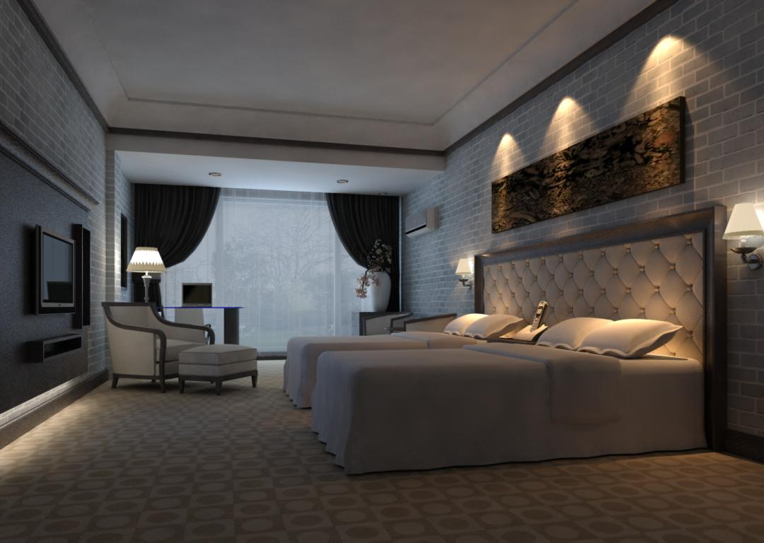 guest room 047 two 3d model max 140946