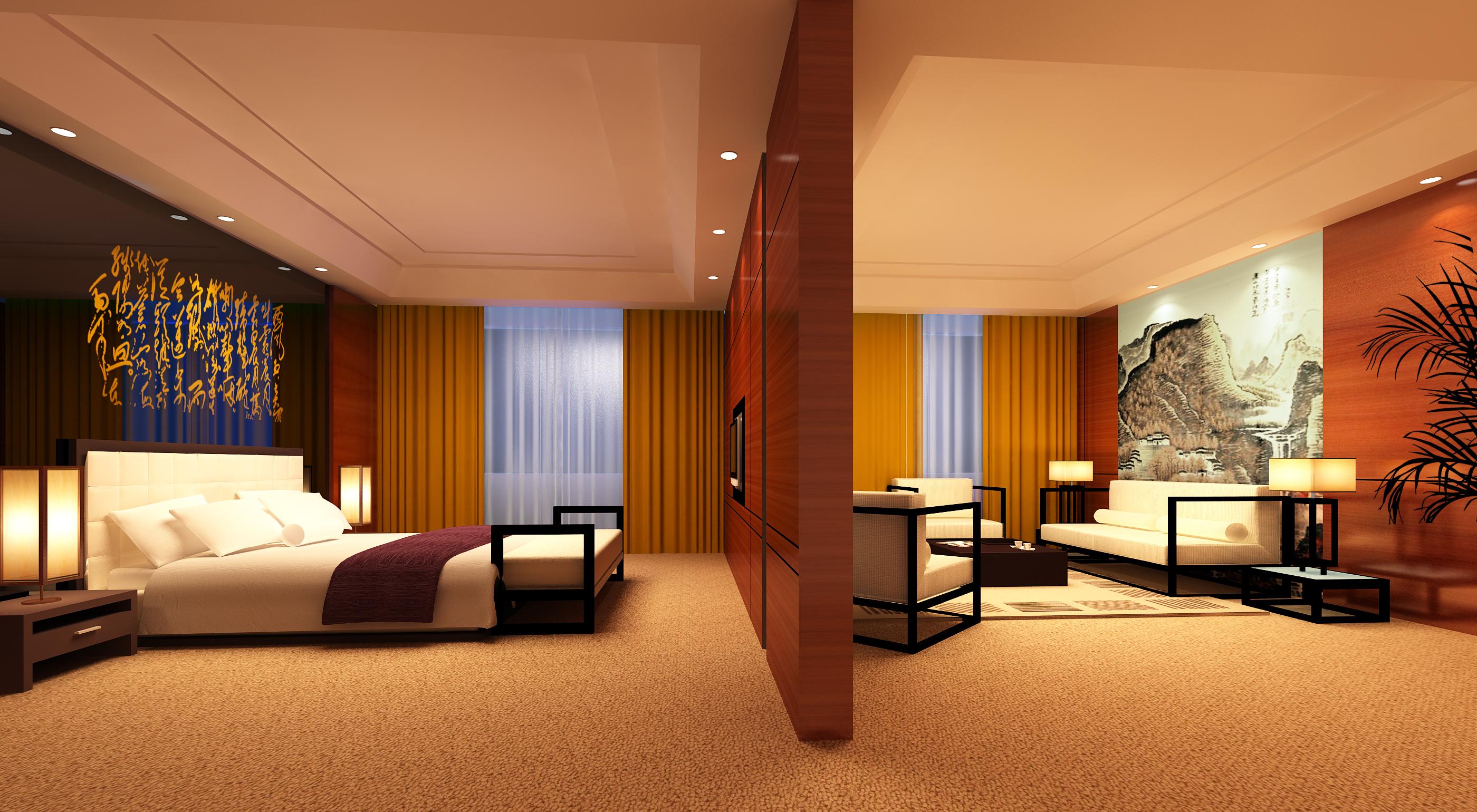 guest room 063 3d model max 136514