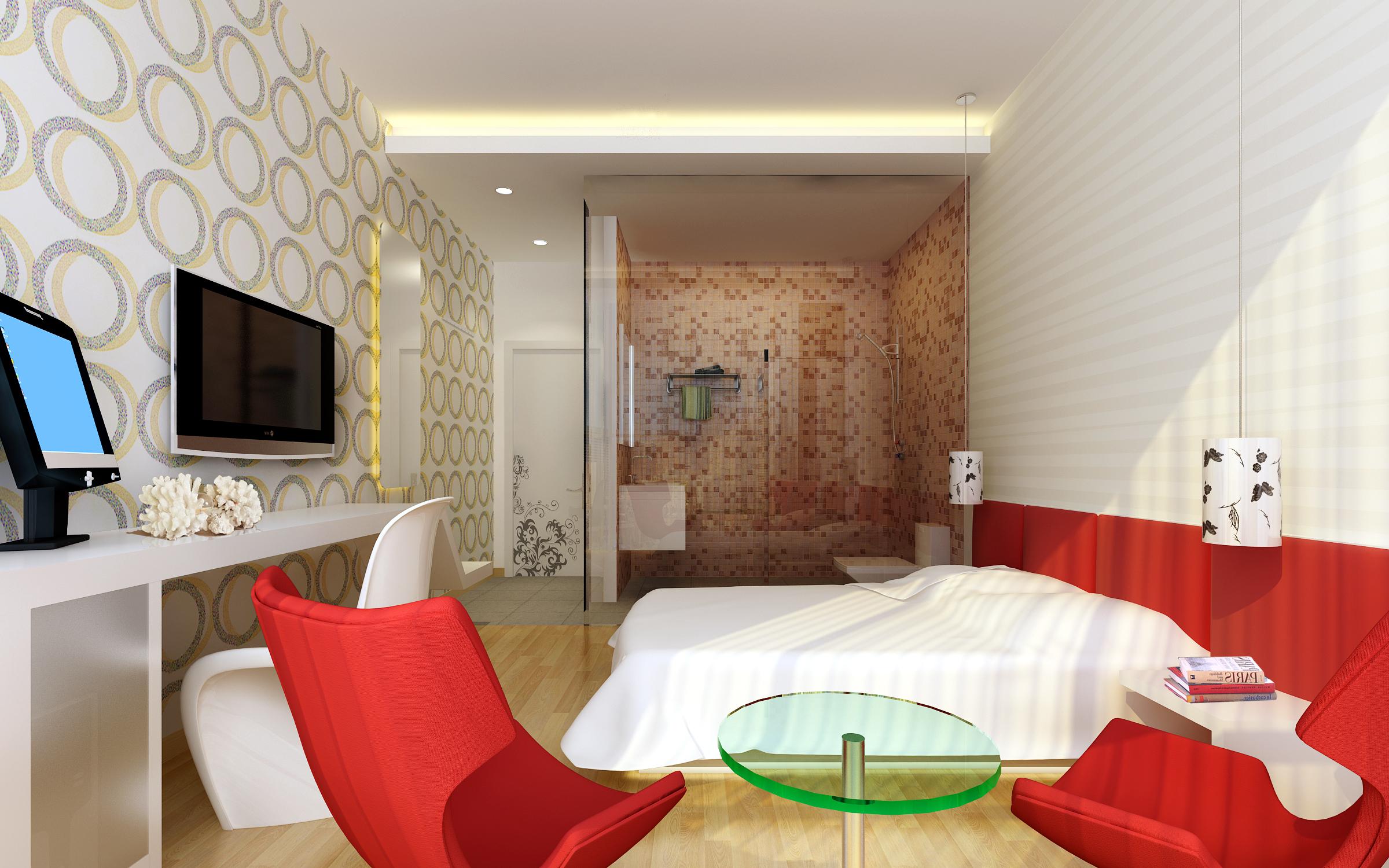 guest room 068 3d model max 136534