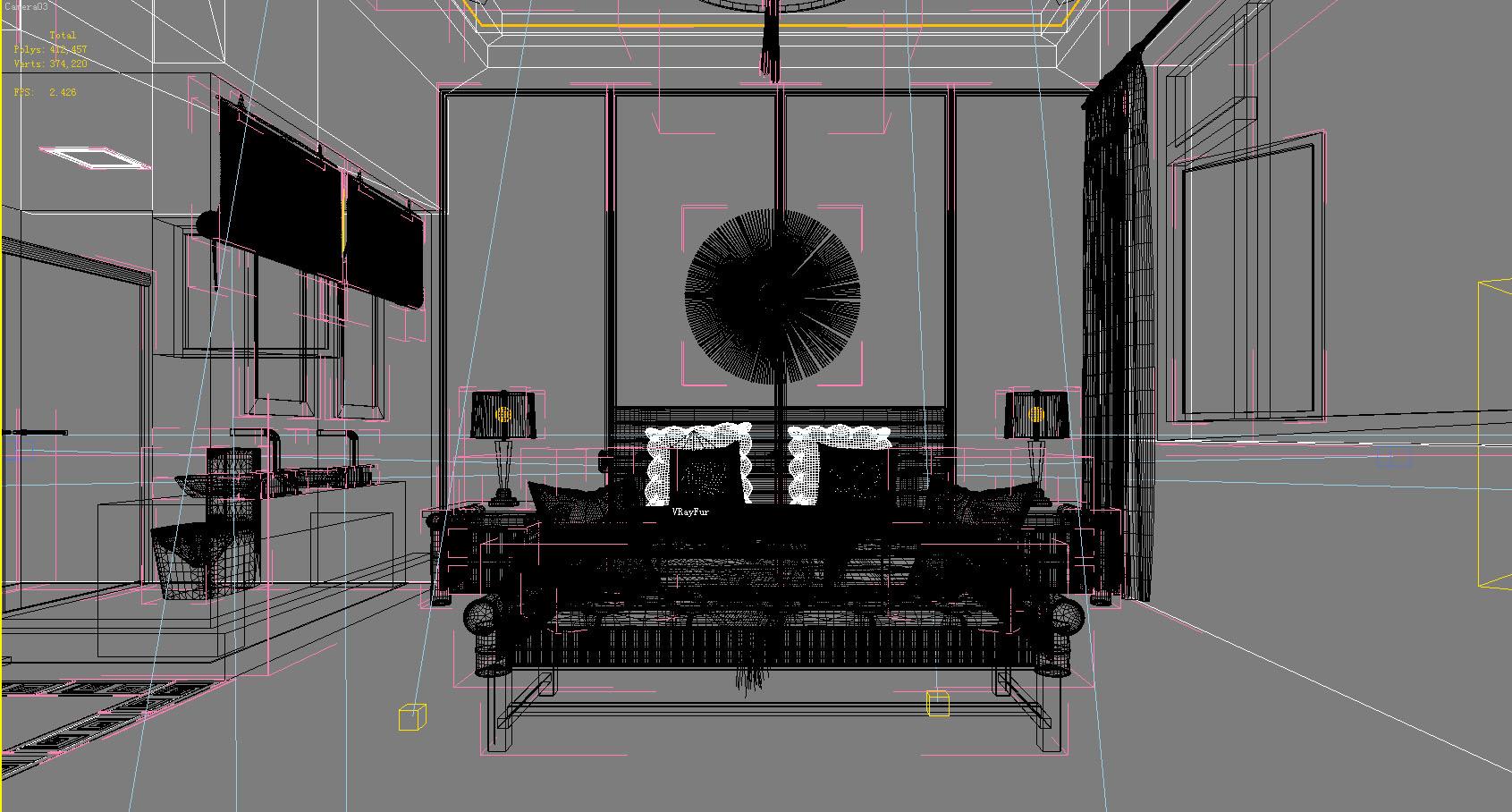 guest room furniture 045 3d model max 140943